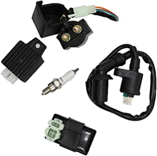 Racing Ignition Coil Spark Plug A7TC CDI GY6 50cc 125cc 150cc for 4-stroke Engines Scooter ATV Go Kart Moped Quad Pit Dirt Bike Cart Anxingo
