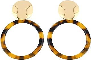 Simple geometric earrings,Acrylic Acetate Plate Leopard Earrings,Dangle Earrings for Women,Clear