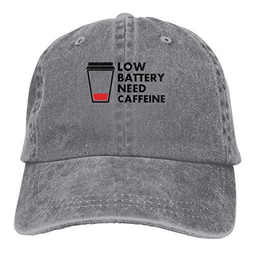 Presock Low Battery Need Coffee Cowboy Cap Unisex Adjustable Trucker Baseball Hats