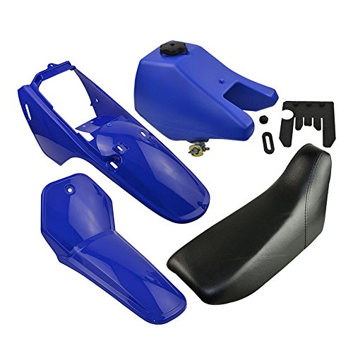 FLYPIG Fairing Plastic Seat Gas Tank Kit Body Rear Fender Assembly Kit for Yamaha PW80 PW 80 Peewee 80 - Blue Dirt Bike