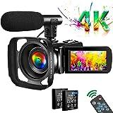 Video Camera 4K Camcorder Vlogging Camera for YouTube UHD 30M 30FPS Digital Zoom...