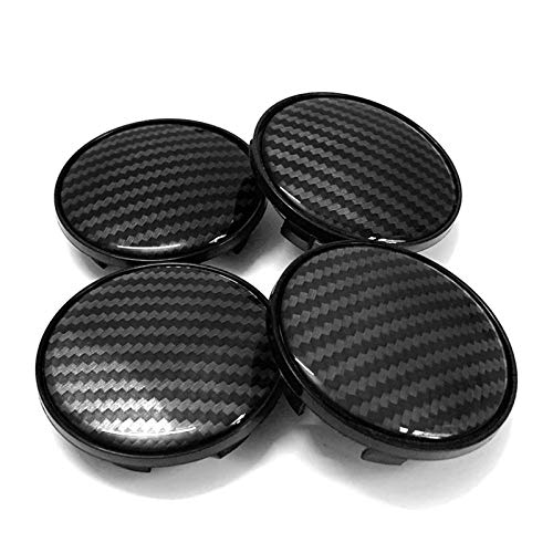 LIZCX YAOQIHAI 4 unids/Lote 3D patrón de Fibra de Carbono 69mm Centro de Rueda de automóvil Cap de Cap Cap para Audi A3 A4 A5 A6 A7 A8 Q5 R8 S4 S5 S6 TT TT Rueda Tapa de la Tapa de la Rueda