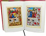 Full-colour luxury art book: hardcover in cloth, dust-jacket, page-marker, top quality paper and printing. 352 9x13 inches pages with 290 full-colour pictures. All images from the illuminated manuscripts in colour.