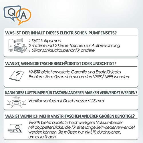 VMstr Vakuumbeutel mit elektrischer Pumpe, Vakuum Aufbewahrungsbeutel 2 x (70 * 50CM) + 2 x (60 * 40CM) für die Reise und den Heimgebrauch,sparen Platz Wiederverwendbare Vakuumbeutel