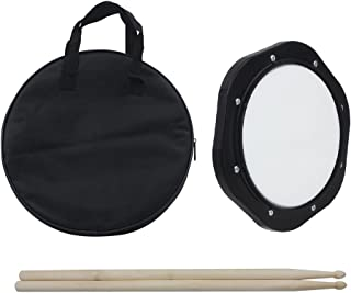 ammoon 10 Inch Drum Practice Pad with Drumsticks Carrying Bag