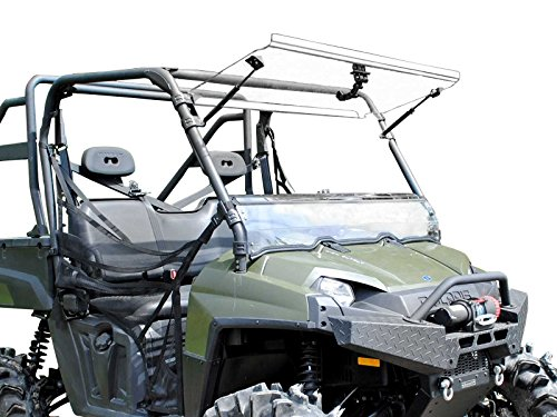 SuperATV Heavy Duty Scratch Resistant 3-in-1 Flip Windshield for 2010-2016 Polaris Ranger Full Size XP 800/800 Crew / 800 6x6   USA Made   Can be set to Open, Vented, or Closed!