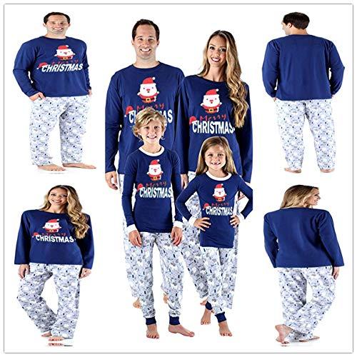 Pyjama Damen Nachthemd Schlafanzug Familien Passende Weihnachtspyjamas Set Weihnachten Adult Cute Party Nightwear Pyjamas Weihnachtsmann Print Nachtwäsche Kleidung Anzug 4T Grau