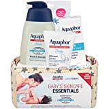 Aquaphor Baby Welcome Gift Set, Free WaterWipes and Bag Included, Healing Ointment, Wash & Shampoo, 3 in 1 Diaper Rash Cream, 5 Piece