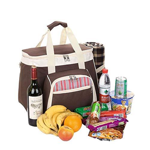 OH Cesta de Picnic Tote 4 Persona Picnic Mochila Portátil Barbacoa Bolsa de Hombro Portátil Picnic Handbag para Viaje/Picnic/Deportes/Vuelo Durable