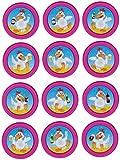 Tapes4you Fichas de repuesto con adhesivo para Looping Louie & Looping Chewie Chips Hasbro Drunken Louie - Gallina de cerveza, color blanco y magenta