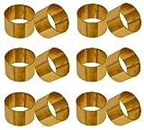SKAVIJ Serviettenring 12er Set für Valentinstag, Feiertage, Esstischdekoration Handgefertigte Metall Solide Serviettenhalte (Gold)