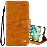 HUAI Caja del teléfono for el iPhone Plus 8 y 7 Style Business Plus Cera de petróleo Textura...