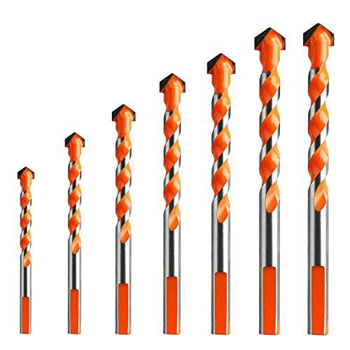 Generic 7pcs Drill Bit Sets, Ultimate Drill Bits 6542 Hss Carbide Drill Bits, Multifunctional Drill Bits Ceramic Punching Hole Working Sets