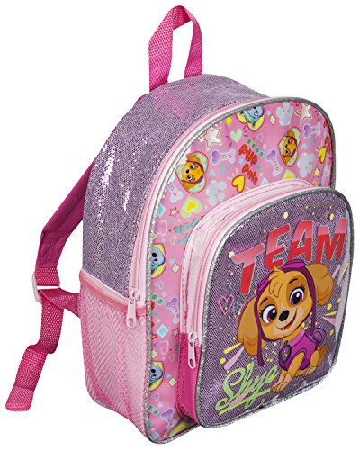 PAW PATROL GIRLS SKYE GLITTER GIRLS KIDS BACKPACK WITH POCKET RUCKSACK SCHOOL HOLIDAY TRIP BAG