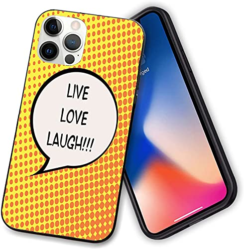 Compatible with iPhone 12 Case,Comicbook Speech Bubble with a Quote on Halftone,Slim Shockproof Soft TPU Stylish Protective Bumper Case Cover for iphone 12-12 pro-6.1 inch