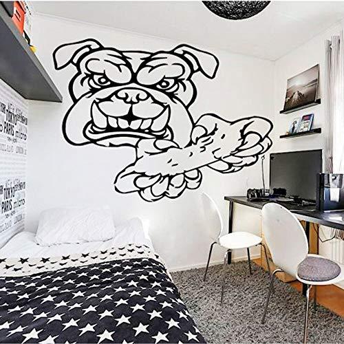 Reproductor de video pegatinas de pared calcomanías de vinilo para pared decoración para niños decoración de la casa dormitorio jugar perro patrón de personalidad