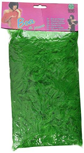 Carnival 08224 - Boa di Piume Lusso Verde in Busta con Cavallotto, 180 cm, circa 55/60 gr.