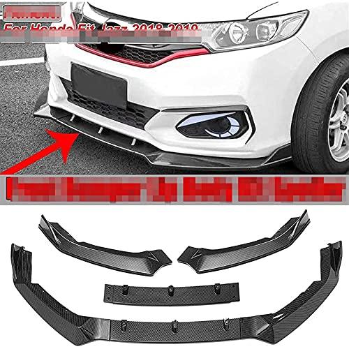 MJCDNB Labbro dello Spoiler del paraurti Anteriore dell'auto in ABS Adatto per Fit Jazz, Kit di Decorazioni per la Protezione del separatore di Flaps