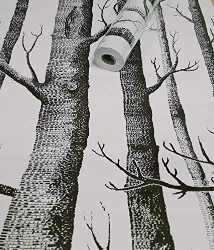 Visario Tapeten Folie 3000-S selbstklebend Baum Dekor 10 m x 45 cm Dekorfolie hell Möbelfolie Tapete 3044