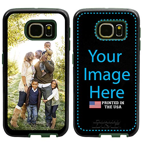 Custom Samsung Galaxy S7 Cases by Guard Dog - Personalized - Make Your Own Protective Hybrid Phone Case. (Black, Green)