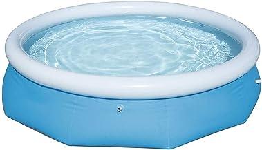 POOL Piscina Hinchable Fast Bañera con Anillo Hinchable Desmontable Autoportante para Verano Ducha Bathtub portátil Anti Resbaladiza Plegable Grueso 183 x 51 cm 886 litros Azul