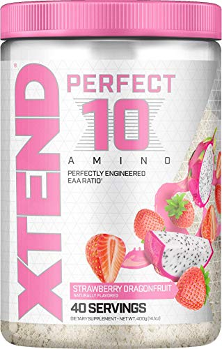 XTEND Perfect 10 Amino EAA Powder Strawberry Dragonfruit | 5g Essential Amino Acids + Branched Chain Amino Acids + Electrolytes to Fuel Hydration & Recovery | 40 Servings