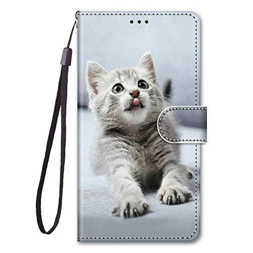 Capa para LG X Power Case capa flip de couro sintético com proteção de cartão pintado fofo compartimentos para cartão (a23)