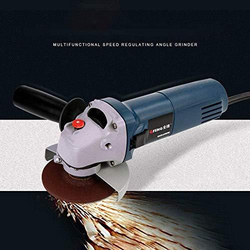 YAYY haakse slijper elektrisch variabel toerental 4-1/2 elektrische slijpschijf voor het slijpen of snijden van metaal (upgrade)