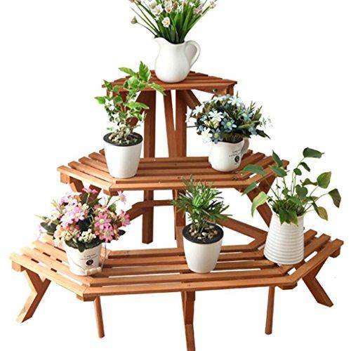 Flower stand ZT Rack Multi-étagères étagère d'angle étagère à Fleurs pour Balcon intérieur étagère à Sol Multi-Niveau Support pour Fleurs en Trois Dimensions Durable