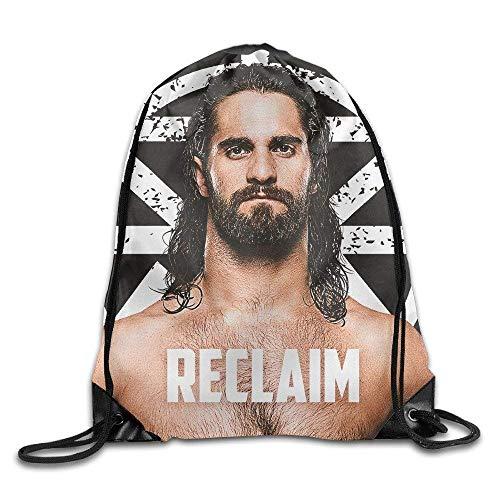 Sporttaschen Turnbeutel, Drawstring Bags Bulk, Raw Seth Rollins Wrestling Back to SummerSlam01 Drawstring Backpack