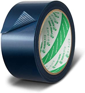 TOPHUHAI Strong Cloth-Based Tape Waterproof and Strong No Residue Multipurpose Tape 48mm × 15Y Blue 1 Roll (Color : Blue)