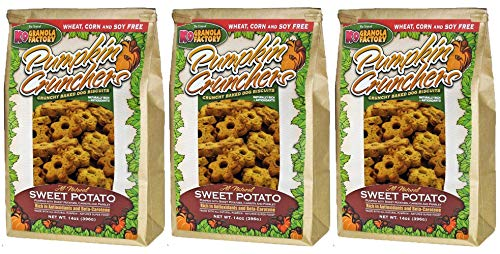 K9 Granola Factory Pumpkin/Sweet Potato with Carrot and Parsley Crunchers (Pack of 3)