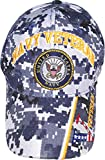 United States Navy Veteran V Blue CAMO Baseball Style Embroidered HAT us USA Cap