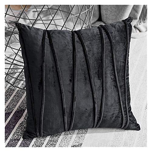 BUYYUB Juego de cojines de terciopelo a rayas, decoración minimalista del hogar (no incluye relleno) para salón, sofá, coche, almohada de 30 x 50 cm (color: 3, tamaño: 30 x 50 cm)
