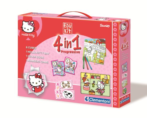 Clementoni-12655-Jeu éducatif-EDUKIT 4 en 1 Hello Kitty