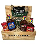 Smokercrate Gift Box Bundle for Police and Law Enforcement with Famous Dave's BBQ Sauce, Rib Rub and...