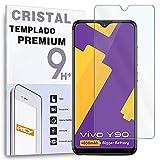 REY Protector de Pantalla para Vivo Y90 - Vivo Y91i, Cristal Vidrio Templado Premium