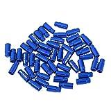 CUTICATE Válvula Presta De Aleación De Aluminio De 50 Unidades/Tapas De Válvulas Schrader Cubierta Antipolvo para Bicicleta - Presta Azul