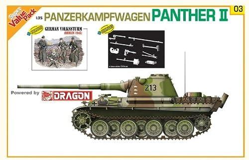 Panzerkampfwagen Panther II + Figuren Deut. Volkssturm 1 35