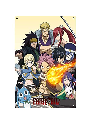 Fairy Tail 2 Movie Metal Japan Anime Idéal pour pub, hangar, bar, bureau, cave, maison, chambre, salle à manger, cuisine – Poster en métal 200 mm x 300 mm