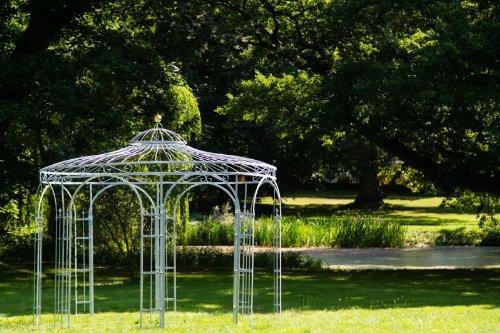 KUHEIGA Stabiler Gartenpavillon aus Metall, verzinkt 350cm, Pavillon
