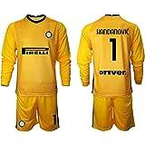 HÄndÄnvīc - Conjunto de camiseta de fútbol para niños, diseño de equipo de fútbol amarillo 5XS