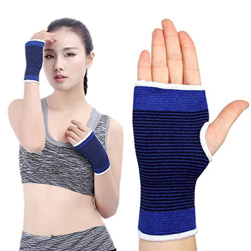 ZUEN Handgelenksport-Armschienen Polyester und Baumwolle Material Komfortabel und atmungsaktiv Gute Flexibilität Handschützer Blau (1 Paar)