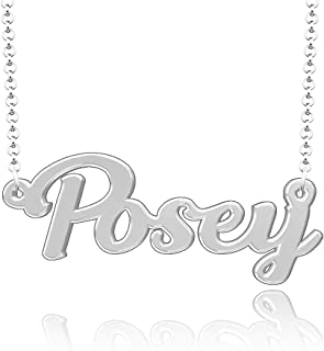 Infinite Memories Customized Name Necklace Custom Made Sterling Silver Pendant Gift for Women