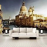 3D Murales De Pared 400X280Cm Edificio Del Fuerte Dorado De Venecia Salón Dormitorio Despacho Pasillo Decoración Murales Decoración De Paredes Moderna