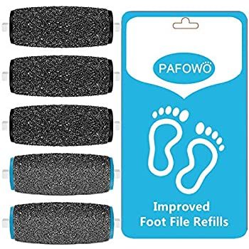3 Extra Coarse and 2 Regular Coarse Replacement Refill Roller Compatible with Amope Pedi Refills Electronic Perfect Foot File