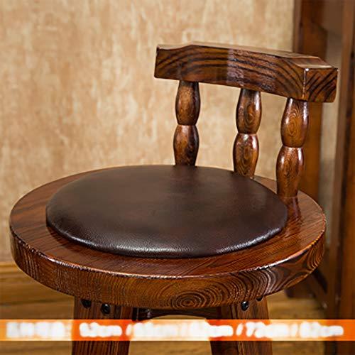 Barhocker Barhocker Massivholz Kuhfell Hochstuhl Sessel Haushalt Retro Front Desk Chair Hocker (Farbe : B2, größe : 72cm)