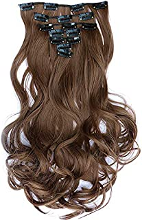 Women's Synthetic Hair Dark Brown Long Curly Elegant Fashion Wig Accessory Seamless Hair Extension