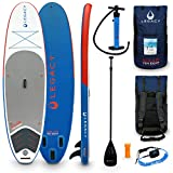 Legacy SOLAIR 10'8 Inflatable Stand Up Paddle Board SUP Package | Adjustable 3pc Paddle | Backpack Bag | Double Action Pump | Leash, Fins & Repair Kit
