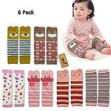 iZiv(TM) Bebé Pierna Calentadores de Manga - Paquete de 6 Diseños Calentador de Rodilla Calcetines de Dibujos Animados para niño 0-3 años